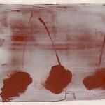 Hideaki-Yamanobe-Arbeiten-auf-Papier-Drei-Formen-Memo-Red-1-2014-Acryl-auf-Papier-39-x-47-cm