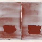 Hideaki-Yamanobe-Arbeiten-auf-Papier-Zwei-Gef+ñ+ƒe-Memo-Red-6-2014-Acryl-auf-Papier-39-x-47-cm